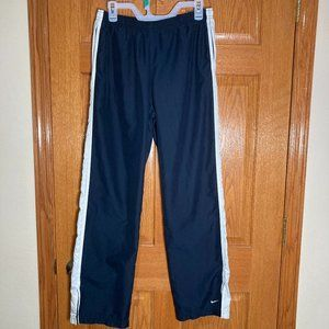 NIKE Women's M 8/10 Athletic Track Wind Pants Navy